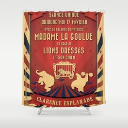 CIRQUE PRICE ROUGE Shower Curtain