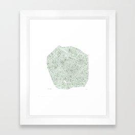 Milan Italy watercolor map Framed Art Print