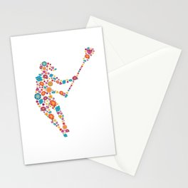 Lacrosse  Flower gift for Lacrosse Player Stationery Cards