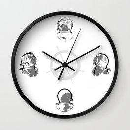 Diving Helmets Wall Clock