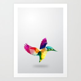 Bird. Glass animal series Art Print