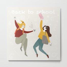 Back to school fall fun Metal Print