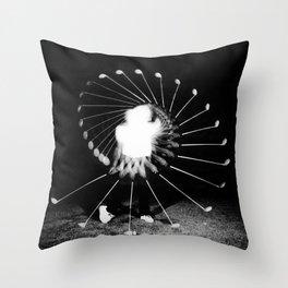 Vitruvian golfer Throw Pillow
