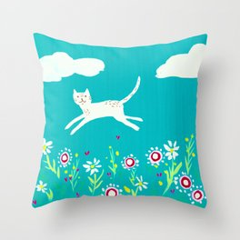 Spring Frolic Throw Pillow
