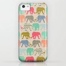 baby elephants and flamingos linen iPhone 5c Slim Case