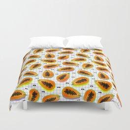 papaya Duvet Cover