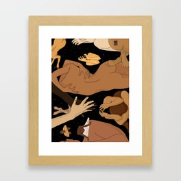 We're in love. We just want to be together. What's wrong with that? Framed Art Print