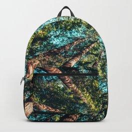 Treetop green blue Backpack