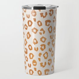 Copper Leopard Print Travel Mug