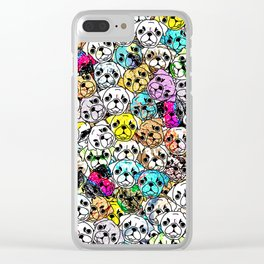 Gemstone Pugs Dogs Clear iPhone Case