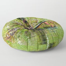 Seaweed Covered Chair Floor Pillow