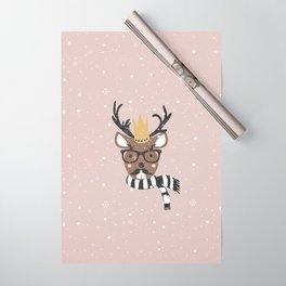 Holiday Deer Illustration Wrapping Paper