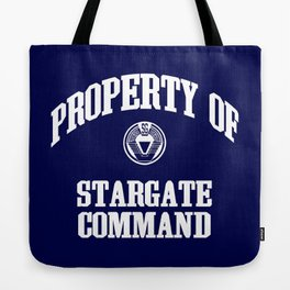 Property of Stargate Command Athletic Wear White ink Tote Bag