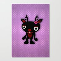 minnie Canvas Prints featuring Minnie by Karen Strempel