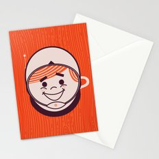 Retro Space Guy Stationery Cards