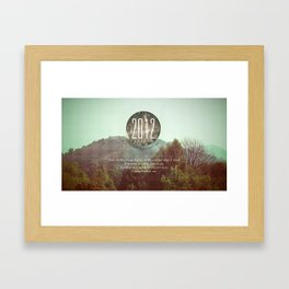 England Below Me  Framed Art Print