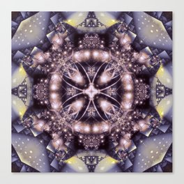 Alien Visitation in Lilac and Lavender Canvas Print