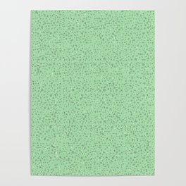Grey Confetti on Medium Green Poster