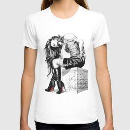 Lady on Cube T-shirt