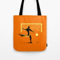 soccer Tote Bags featuring Soccer by Enzo Lo Re