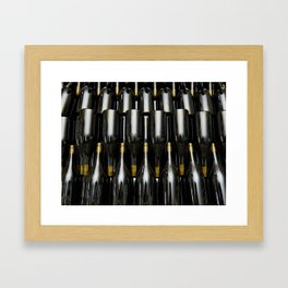 Wine white bottles Framed Art Print