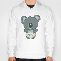 cartoons Hoodies featuring Baby koala by mangulica