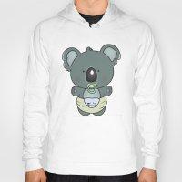 cartoons Hoodies featuring Baby koala by mangulica illustrations