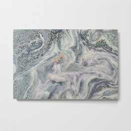 Marbled Metallic paper Metal Print