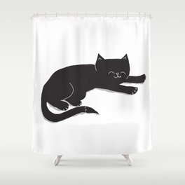 Happy Kitty Shower Curtain