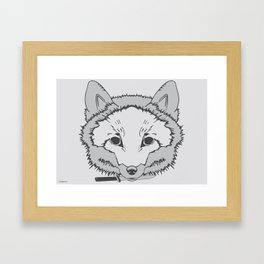 Pirate Fox Framed Art Print