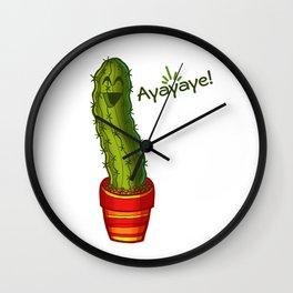Ayayaye Cactus Pickle Wall Clock