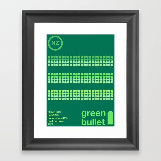 green bullet single hop Framed Art Print