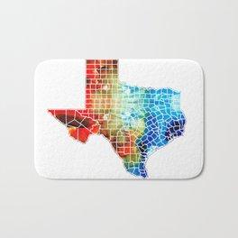 Texas Map - Counties By Sharon Cummings Bath Mat