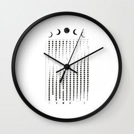 Minimalist Moon Luna Phase Calendar Wall Clock