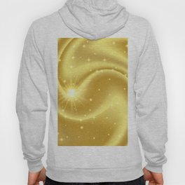 Gold abstract background with stars and particles. Hoody