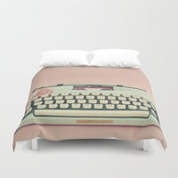 letter Duvet Covers featuring Love Letter by Cassia Beck