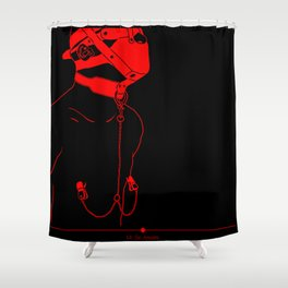 MUZZLED Shower Curtain