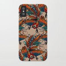 rooster ink beige iPhone X Slim Case