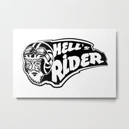 Hell's rider Metal Print