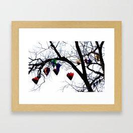 Raining Color Framed Art Print