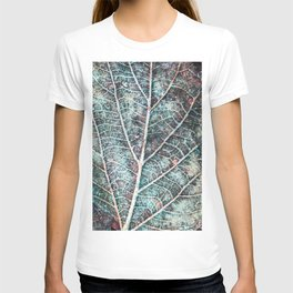 texture of a leaf T-shirt