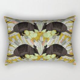 native armadillos gold Rectangular Pillow