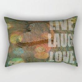 LIVE. LAUGH. LOVE. Rectangular Pillow