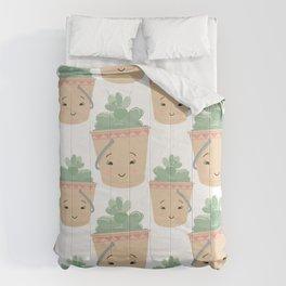 Baby Succulent Illustration Comforters
