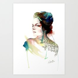 blossoming tattoos Art Print
