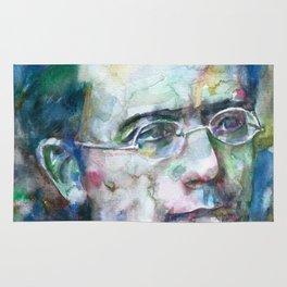GUSTAV MAHLER - watercolor portrait.3 Rug