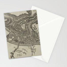 Vintage Map of Lyon France (1818) Stationery Cards