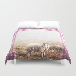 Sheep - pink graphic Duvet Cover