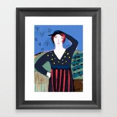 The Girl's Got Attitude Framed Art Print