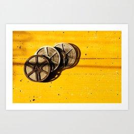 Film Reels Art Print